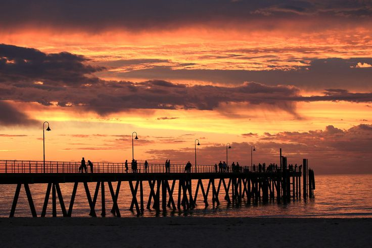 "Sunset at Glenelg Jetty, Adelade, South Australia, Australia  <a href=""http://www.robertdowniephotography.com"">www.robertdowniephotography.com</a> Love Life, Love Photography"