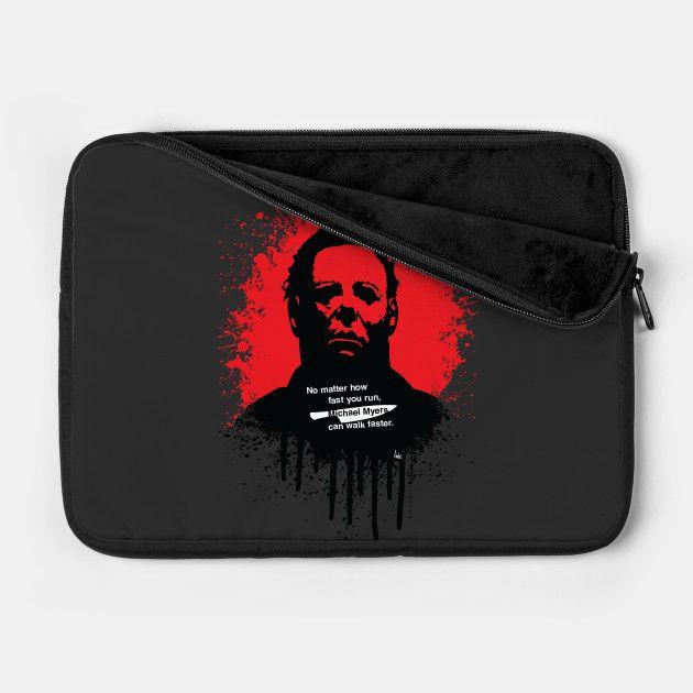 Halloween laptop sleeve by Fimbis     Michael Myers, horror, art, scary movies, illustration, blood, movie poster, dark, macbook pro, Lenovo, Microsoft surface, laptops,