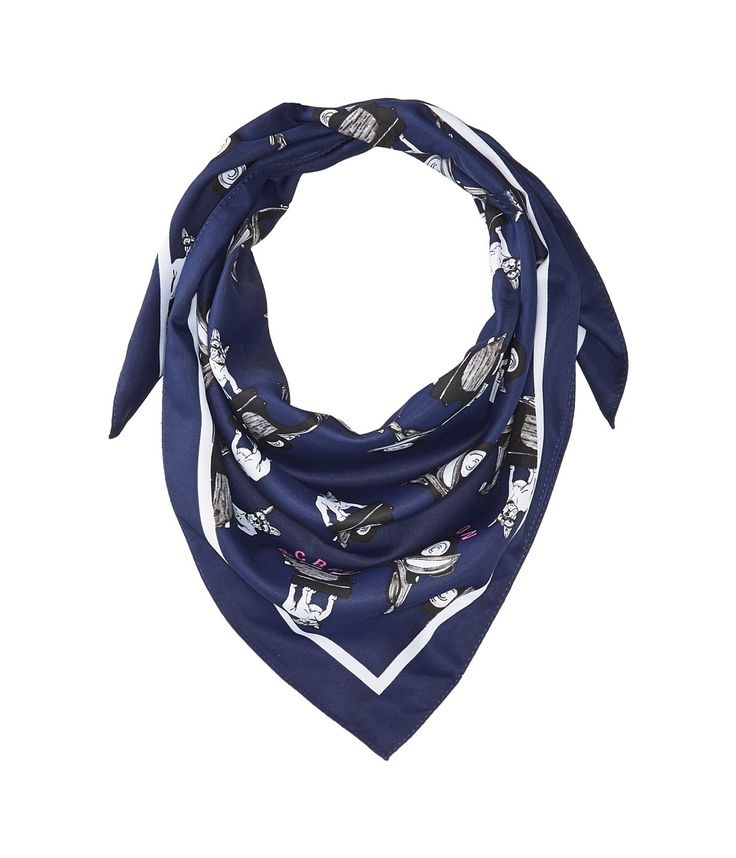 BCBGENERATION BCBGENERATION - BOSTON TERRIER BANDANA (NAVY) SCARVES. #bcbgeneration #