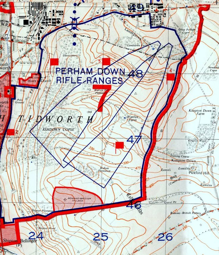 1:25,000 SPTA 1957 - Perham Down