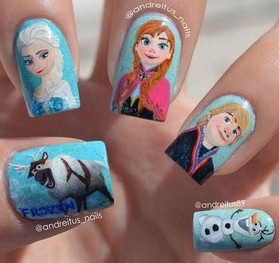 disney nails | Frozen
