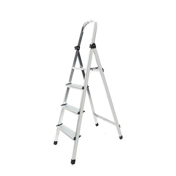 Foldable 4 Steps Ladder Non-slip 150kg Capacity Platform Aluminum. Description:  	   	Foldable 4 Steps Ladder Non-slip 150Kg Capacity Platform Aluminum 	 	 		This is our 4-step ladder with a sturdy construction which provides a comfortable standing platform. This ladder will make a handy addition to any home. When folded, it takes little space and can be placed easily. Don't hesitate to buy it. 	 		    	Features:   	   	 		Brand new and high quality. 	 		Sturdy construction. 	 		Large…