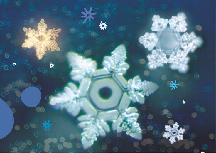 cristales en el agua