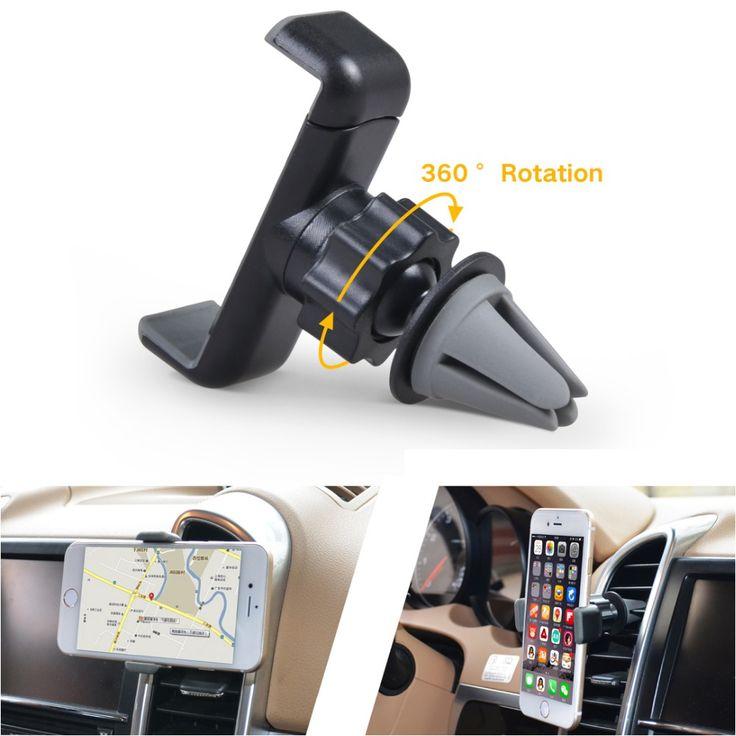Cobao universele auto mount houder 360 roterende auto ontluchter telefoon houder stand mobiele telefoon accessoires voor iphone 5 5 s 6 6 s 7