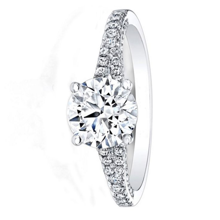 0.86 Ct Diamond Solitaire Engagement Ring Solid 14K White Gold Ring Size 5,5.5,6