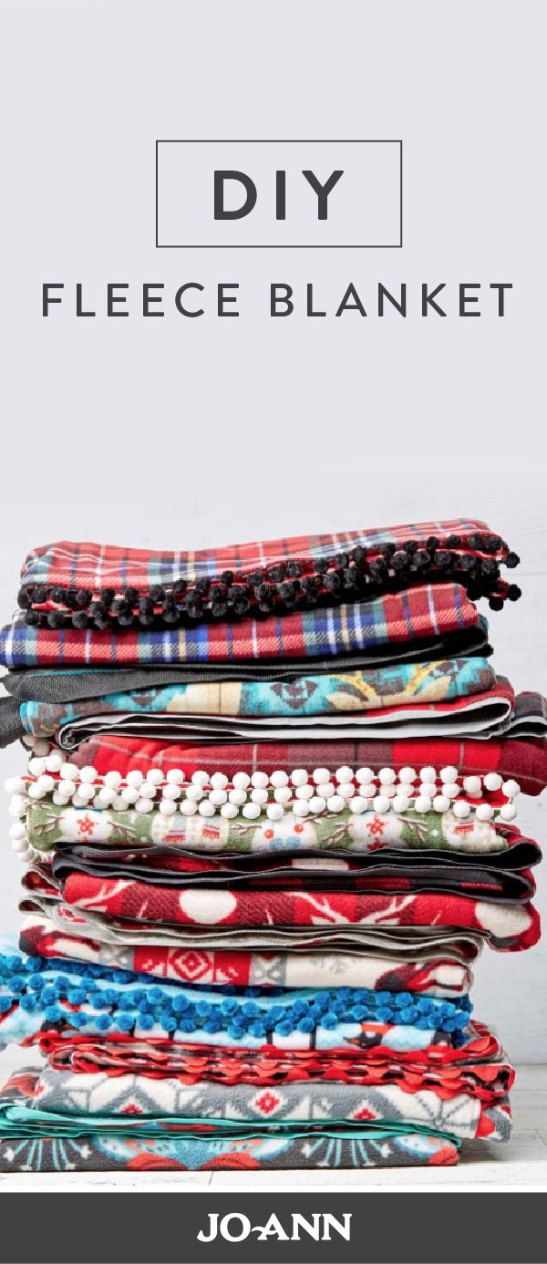 We love the idea of making your very own DIY Fleece Blankets for your home this winter. Plus, with so many patterns and styles to choose from at Jo-Ann's, you can perfectly customize these cozy blankets and give them as gifts for your friends and family.