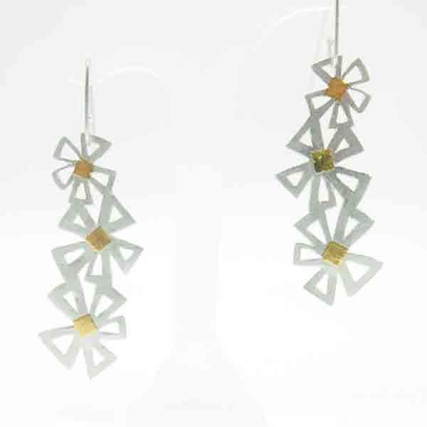 Felicity Peters Earrings - stg silver and 24ct gold