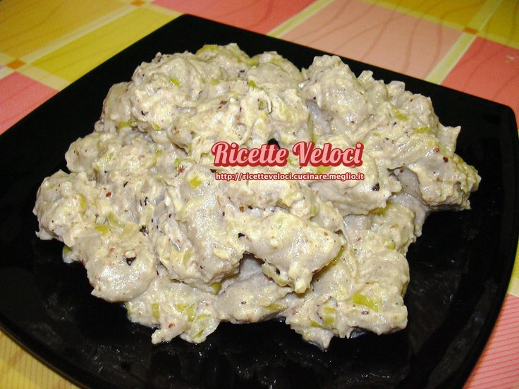 Gnocchi di grano saraceno con salsa di noci e porro