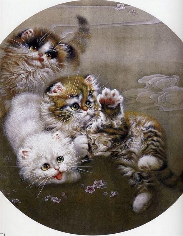 картинки для декупажа коты и кошки котята каталоге