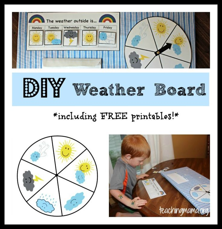 DIY Preschool Weather Board {With Free Printables!}