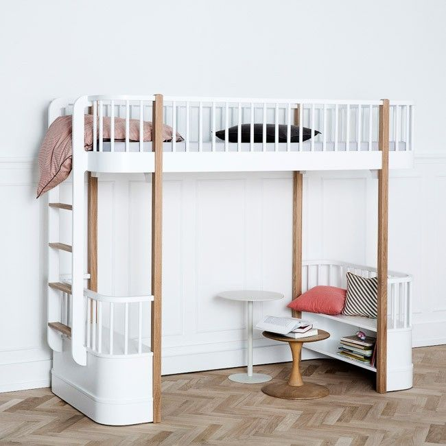 designstuff offers a range of Scandinavian designed furniture including this stunning loft bed in oak and white by Oliver Furniture of Denmark.