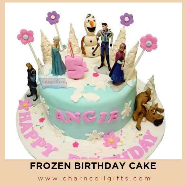 Frozen Birthday Cake | Perfect theme for your children Birthday party | Order now : www.charncollgifts.com | +6221-7509476 / +6221-7197234 #Cake #Birthday #Party #Frozen