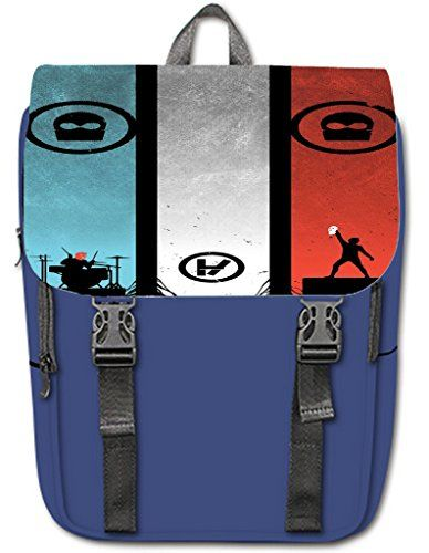 Halocow Custom Twenty One Pilots Band Casual Shoulders Backpack unique design Blue >>> Insider's special review you can't miss. Read more  : Camping backpack