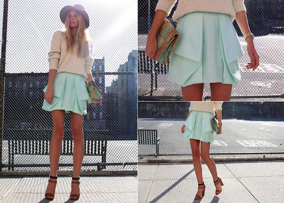 Interesting skirt: Pastel, Fashion, Style, Clothes, Dream Closet, Colors, Than, Cute Skirts, Flowy Skirt