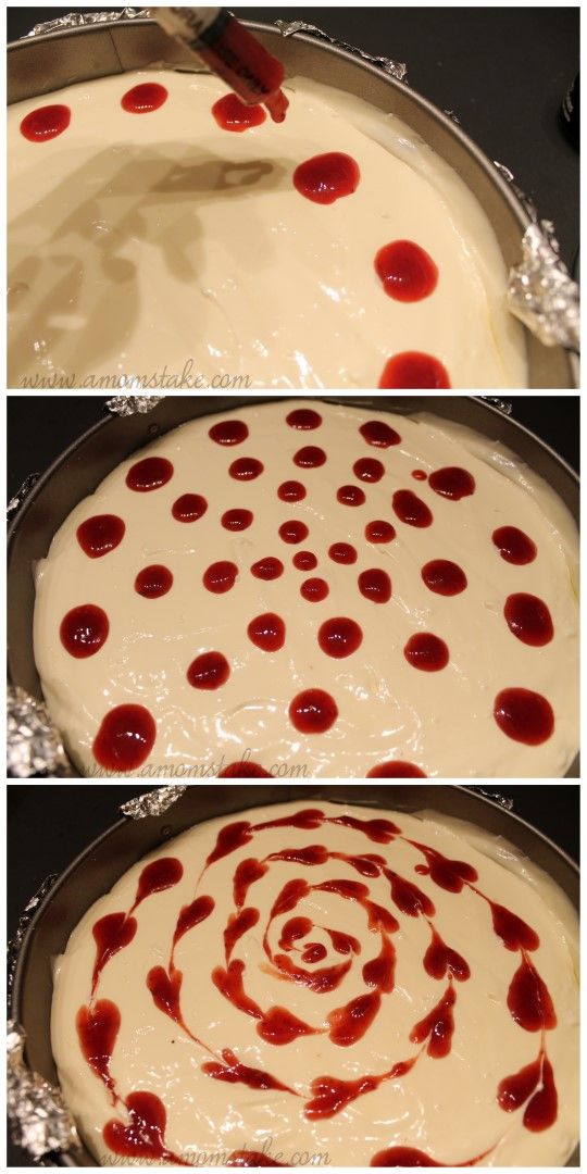 Strawberry Swirl Cheesecake Recipe So pretty and easy!