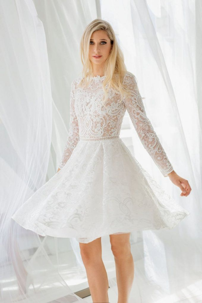 14 Smokin Hot Short Wedding Dresses Emmaline Bride Short Bridal Gown Long Sleeve Bridal Dresses Short Wedding Dress