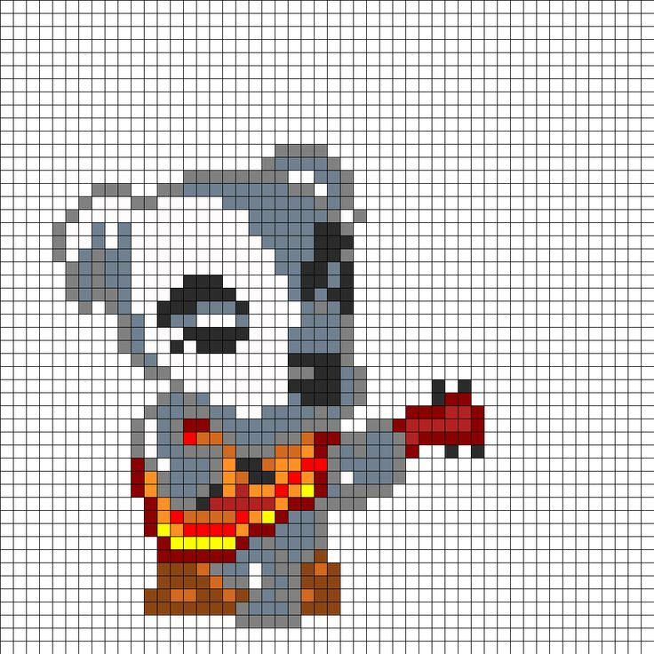 KK Slider From Animal Crossing bead pattern Oh WOW THAT IS ... - Pixel Art Animal Crossing