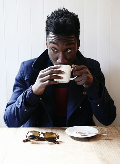 .: Teas Time, Nathan Stewart Jarrett, British Actor, Masculine Style, The Last Unicorn, Men Fashion, Misfits, Nathan Stewartjarrett, Coats