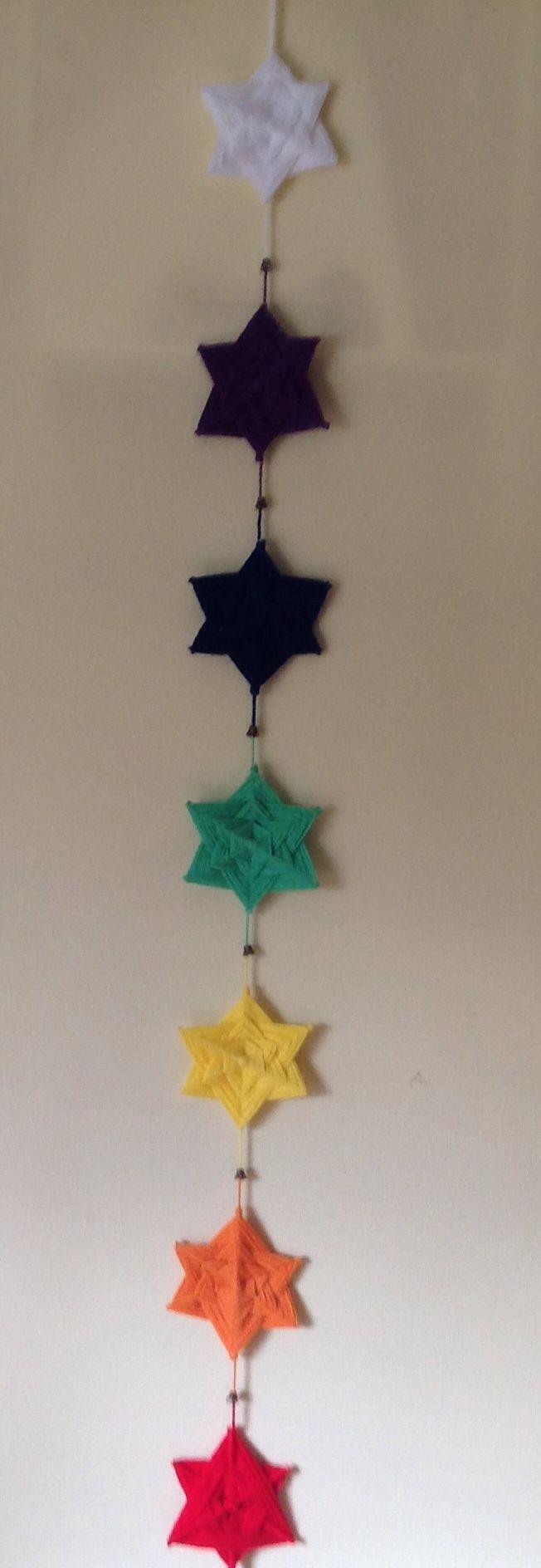 Móvil de estrellas,colores de los chacras