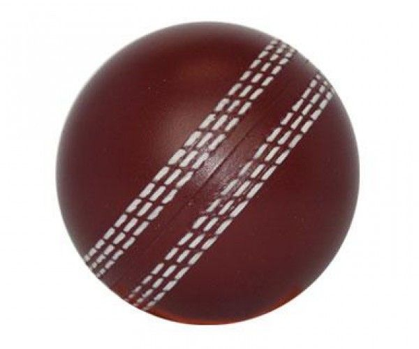 STRESS CRICKET BALL BURGUNDY – S17  Price includes 1 color, 1 position print   2 Color imprint available for an additional charge  Decoration option: Pad print  Print Area: 30mm (D)Product Size: 70mm (D)