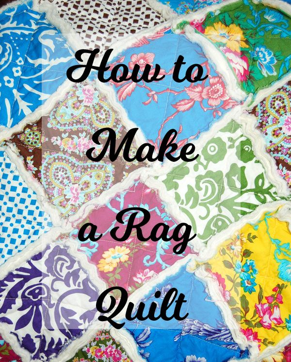 Quilt for Beginners - Rag Quilt - Easy Quilt - includes chart of amount of what size squares you need for what size finished quilt you want. Nice reference.
