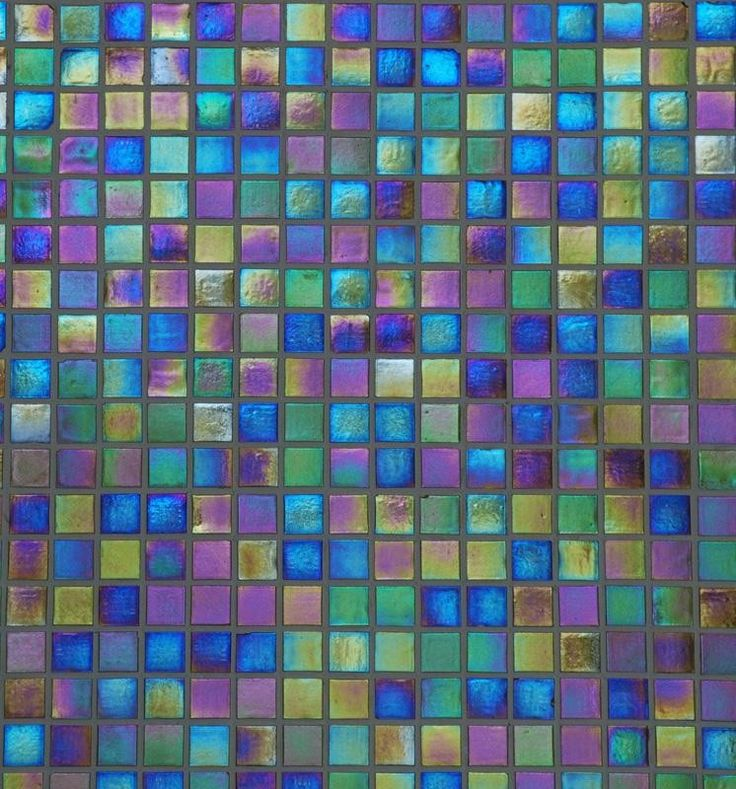 A bath & shower stall of this iridescent tile would bring pure happiness to each morning!
