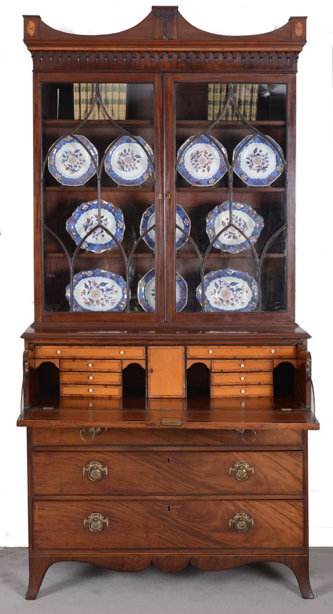 Fine George III Mahogany Library Secretaire Bookcase, 18th C The classical  arch-molded cornice - 13 Best Bookcases & Library Furniture Images On Pinterest