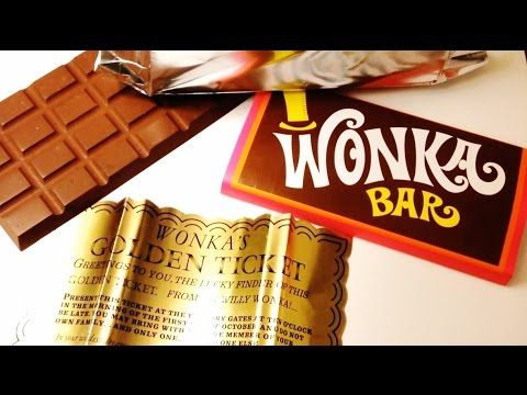 Willy Wonka and the Chocolate Factory - Wonka Bar Prop Replica Review - YouTube