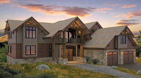 Timber Frame House Plan of Canadian Timberframes, Ltd. Elevation
