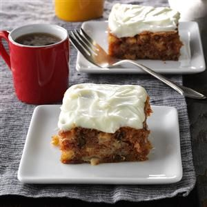 Potluck German Apple Cake Recipe -My mother made this cake for me and my brothers during our childhood. It's excellent any time of the year for potlucks or picnics. —Edie DeSpain, Logan, Utah