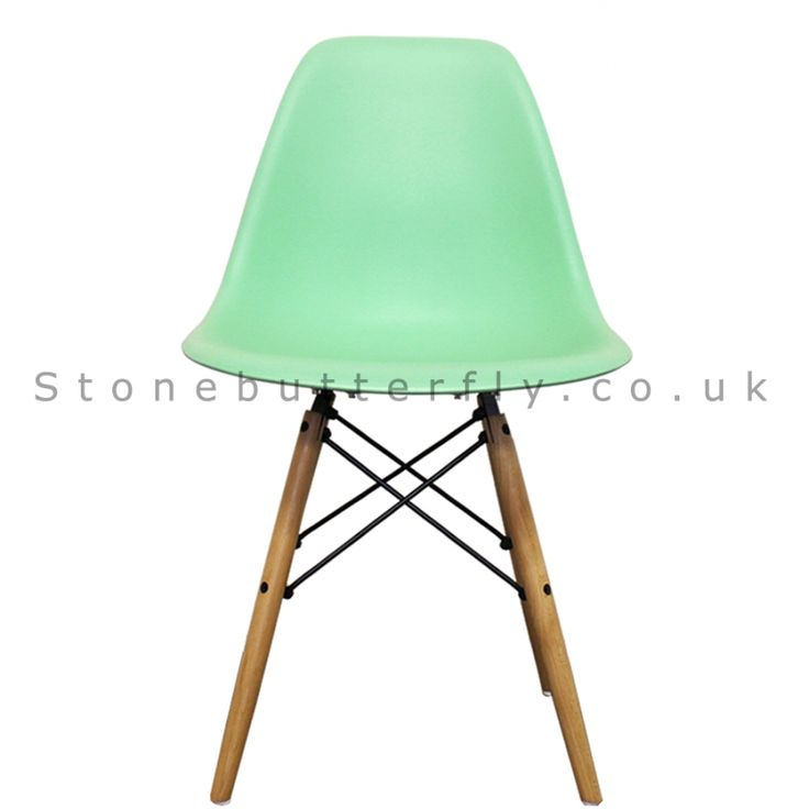 Charles Ray Eames Style DSW Side Chair Natural legs - Peppermint
