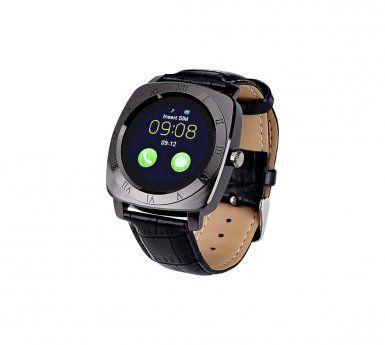 AUTO-HIGHTECH Montre bluetooth telephone , caméra intégrée, 240x240 résolution, 32Go de mémoire externe, podomètre (Noir)