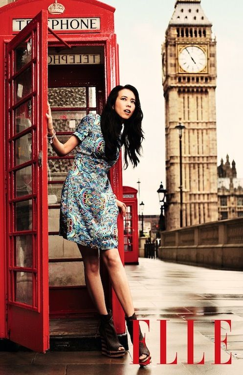 The Terrier and Lobster: Karen Mok in London by David Oldham for Elle China