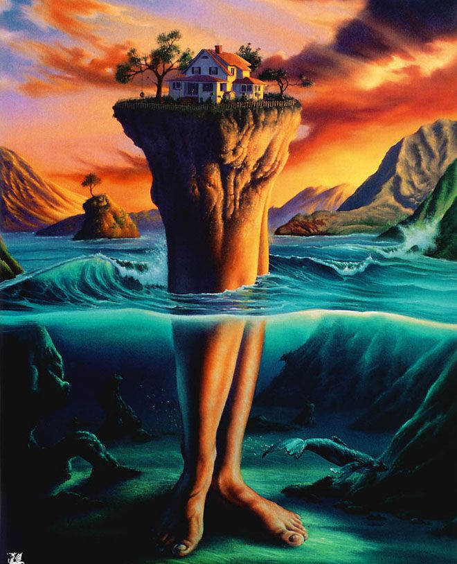 25 Mind Blowing and Surreal Paintings by Jim Warren - Master of Imagination. Follow us www.pinterest.com/webneel