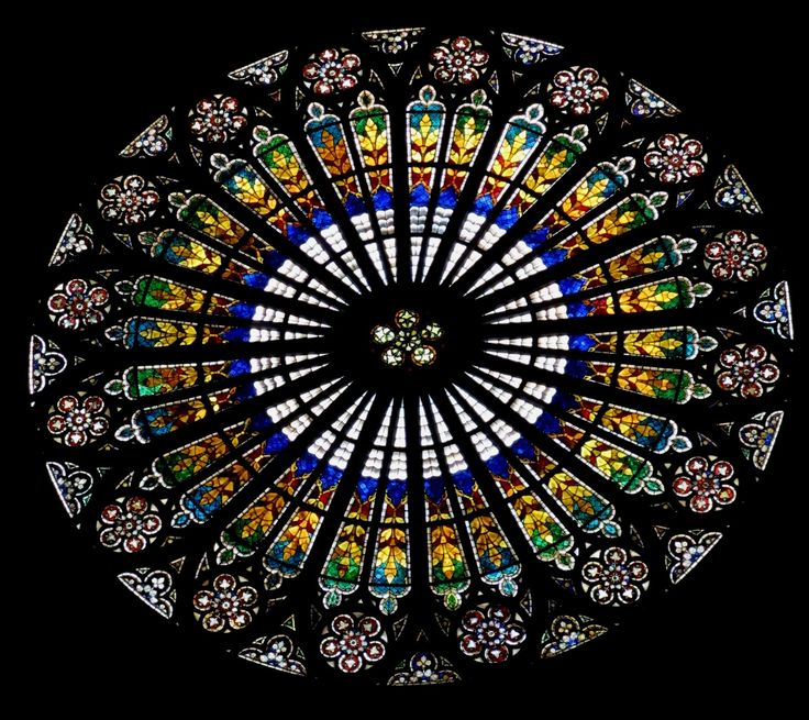 Church Rose Window | Above it is the gallery of apostles. From the inside, the rose window ...