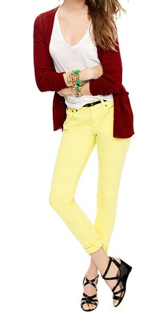 j.crew: Summer 2012, Fashion, Style, J Crew, Clothes, Yellow Pants, Color, Jcrew, Wear