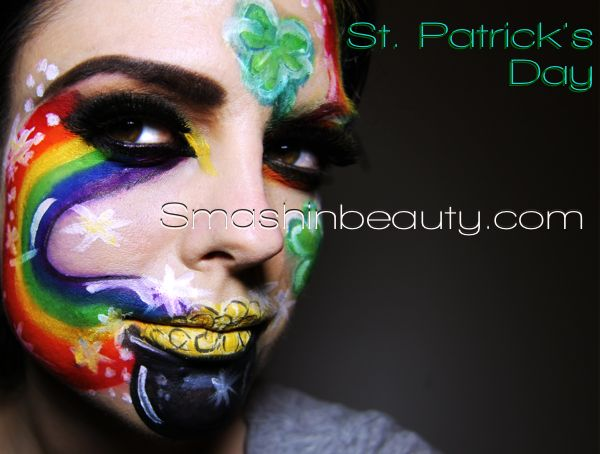 St Patrick's Day Makeup (Face Paint)
