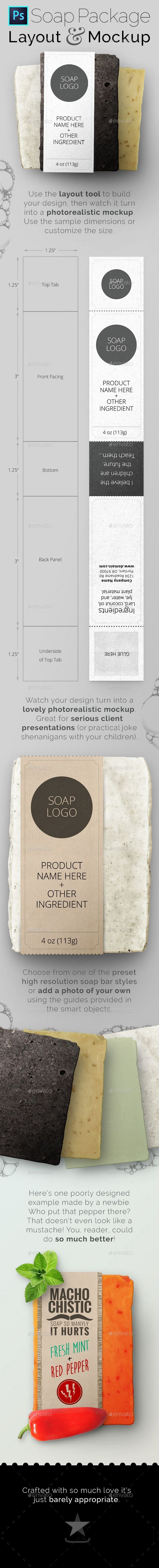 Soap Bar Package Tool and Mockup - Packaging Product Mock-Ups