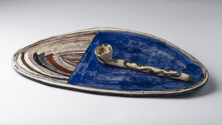 Vanessa Anastasopoulou, ceramic platter and spoon