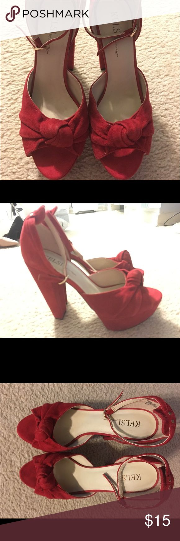 Kelsi by Kelsi dagger red suede platform pumps Kelsi by Kelsi dagger red suede platform pumps Kelsi Dagger Shoes Platforms