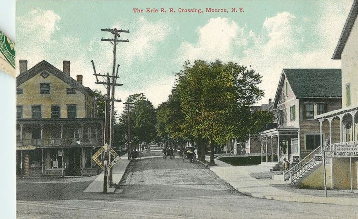 A View of the Erie R.R. Crossing, Monroe NY 1910 | Collectibles, Postcards, US States, Cities & Towns | eBay!
