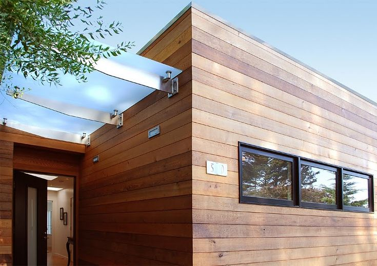Horizontal tongue and groovewestern red  cedar siding