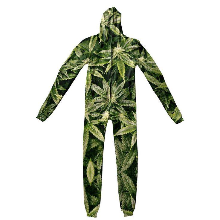 Adult Jumpsuits - Kush Leaves Adult Jumpsuit