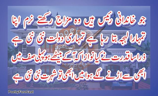 Heart Touching Fakher Shayari,jo khandani raees hote hain,Urdu Ghazal,Urdu Poetry,jo khandani raees hain complete ghazal