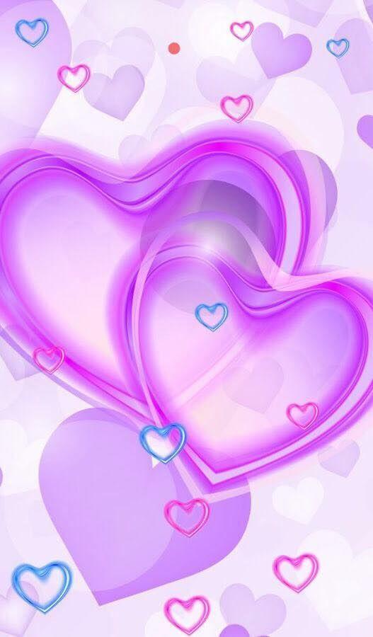 purple butterflies and hearts wallpaper wwwpixsharkcom