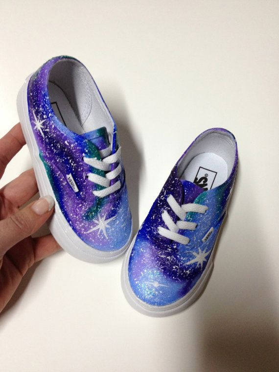 Infant Toddler VANS - Painted Galaxy Shoes Kids Shoes Custom Nebula Starry Stars Night Sky - Size 4 4.5 5 5.5 6 6.5 7 7.5  8 8.5 9 9.5 10