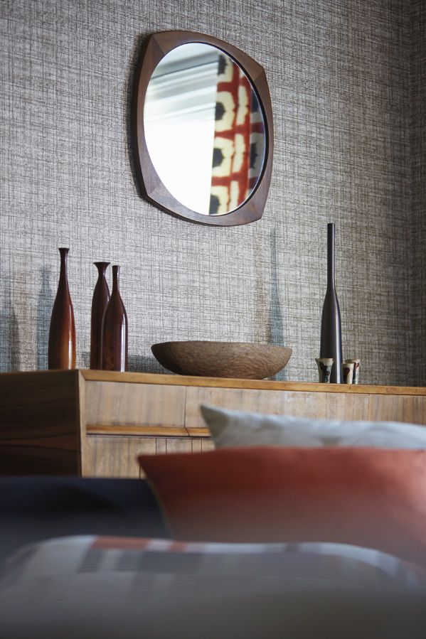 Wall covering from Wabi Sabi, Harlequin, Goodrich. #GoodrichGlobal #PoshLiving #GoodDesign