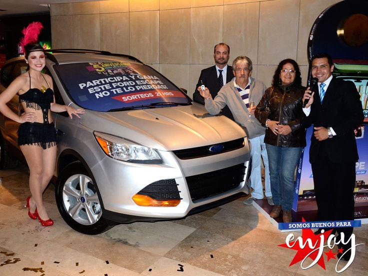 Jorge Araya fue el afortunado ganador de un Ford Escape en Enjoy Antofagasta.