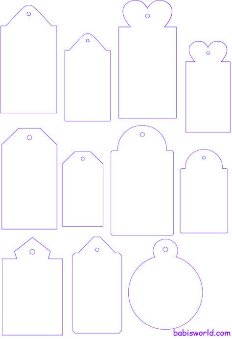 tags template Modelos de tags e divisórias para mini álbuns…
