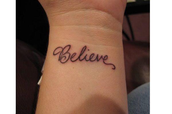 Powerful One Word Statement 6 Fantastic Ideas for Female Wrist Tattoos